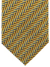 Missoni Tie Yellow Gold Blue Zig Zag Design