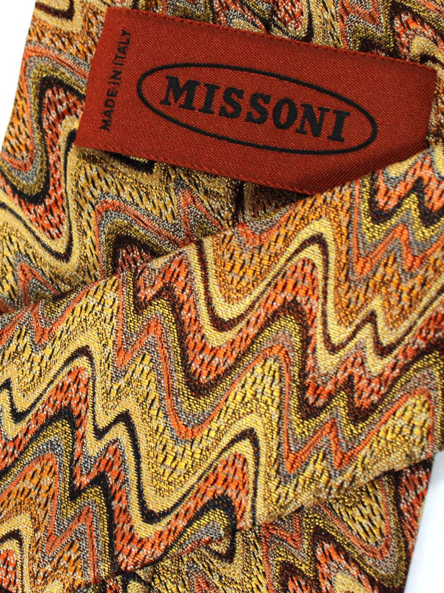 Missoni Tie Mustard Gold Orange Swirl Design