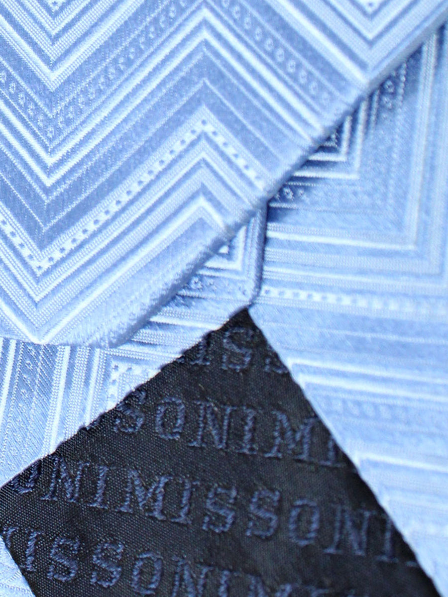 Missoni Tie Blue Geometric Design