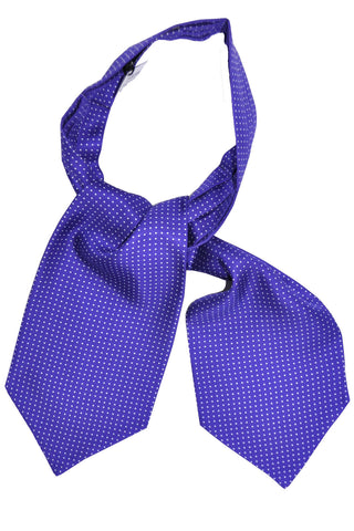 Turnbull & Asser Ascot Tie Purple White Mini Dots SALE