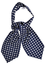 Turnbull & Asser Ascot Tie Dark Navy White Dots