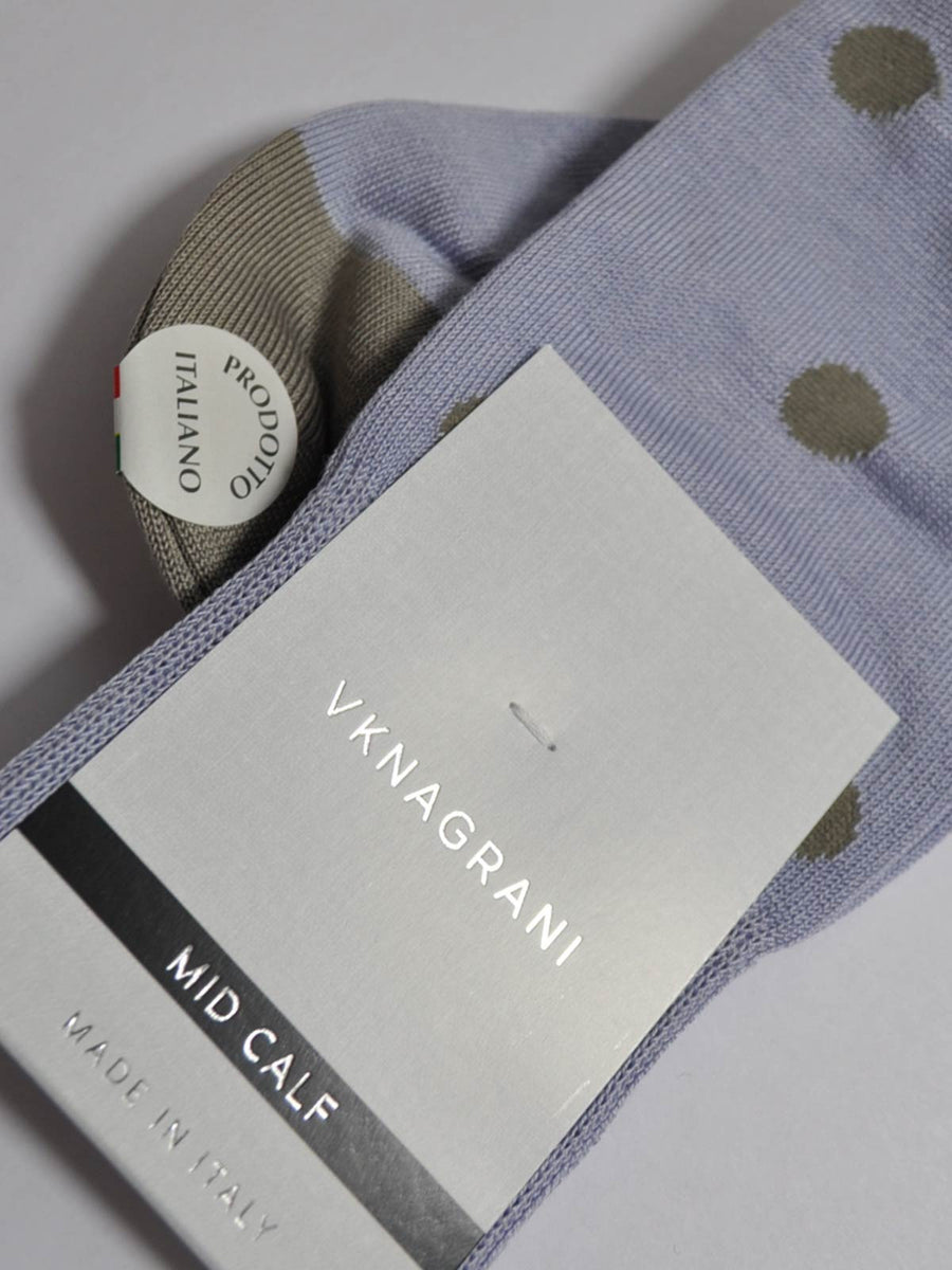 VK Nagrani Men Socks Lavender Polka Dots SALE