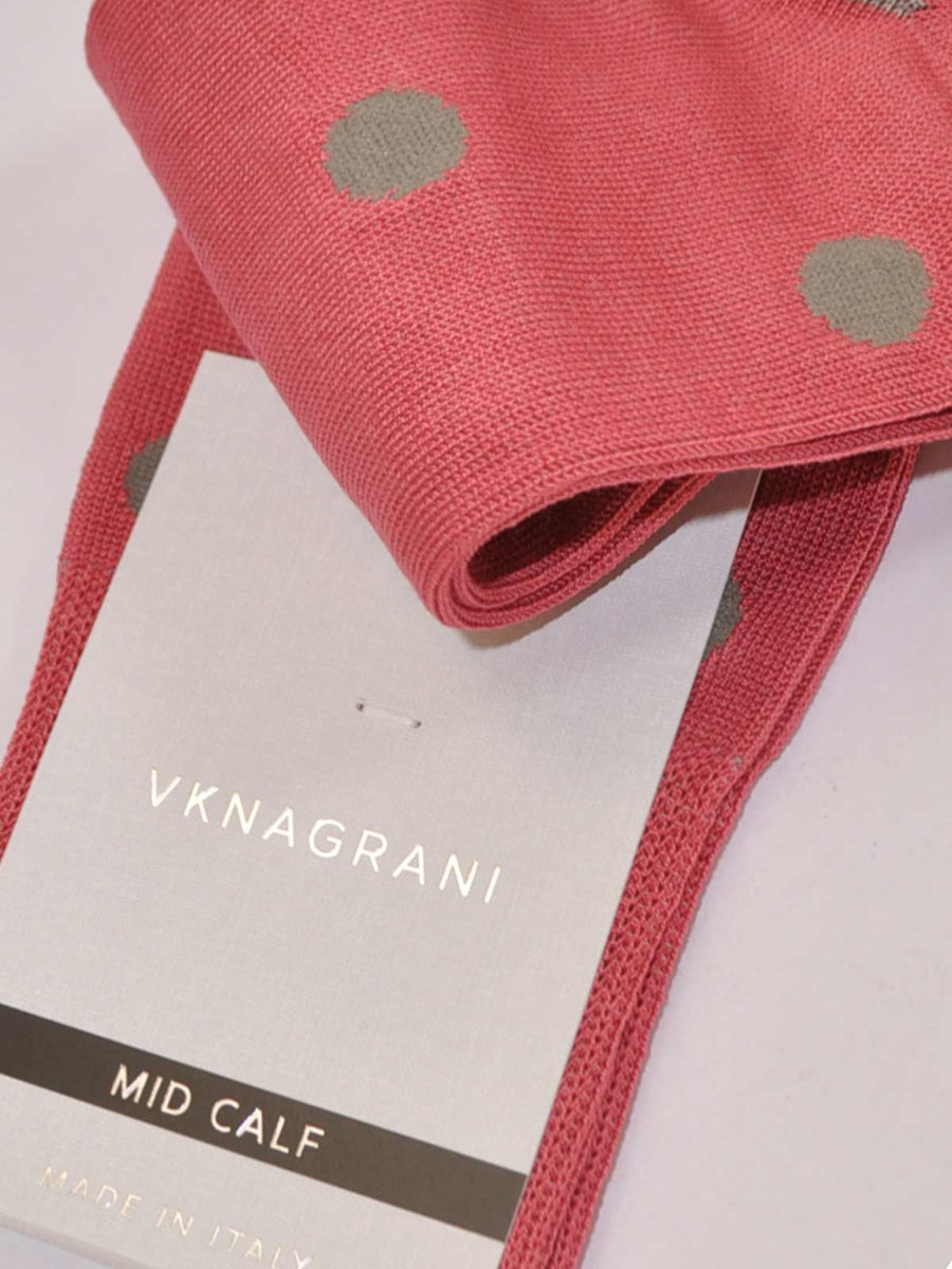 VK Nagrani Men Socks Dust Pink Dots