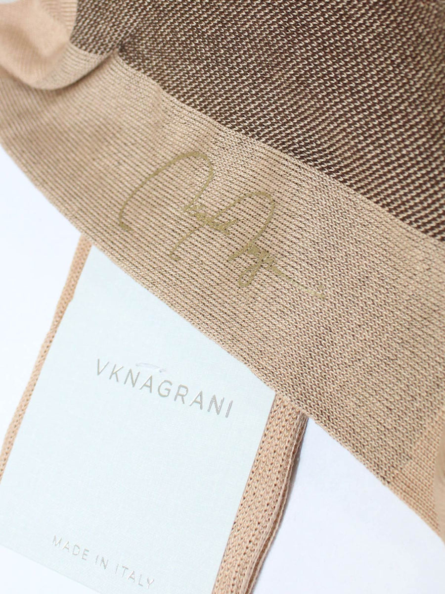 VK Nagrani Men Socks Beige Birdseye