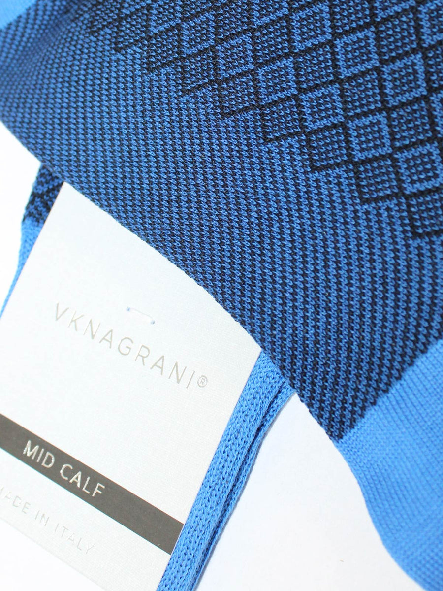 VK Nagrani Men Socks Marine Blue Design
