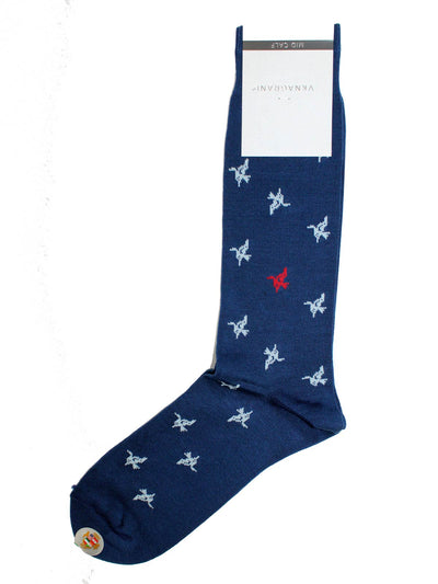 VK Nagrani Men Socks Navy Novelty Design