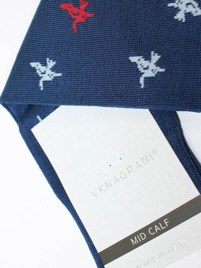 VK Nagrani Men Socks Navy Bird - Novelty Design