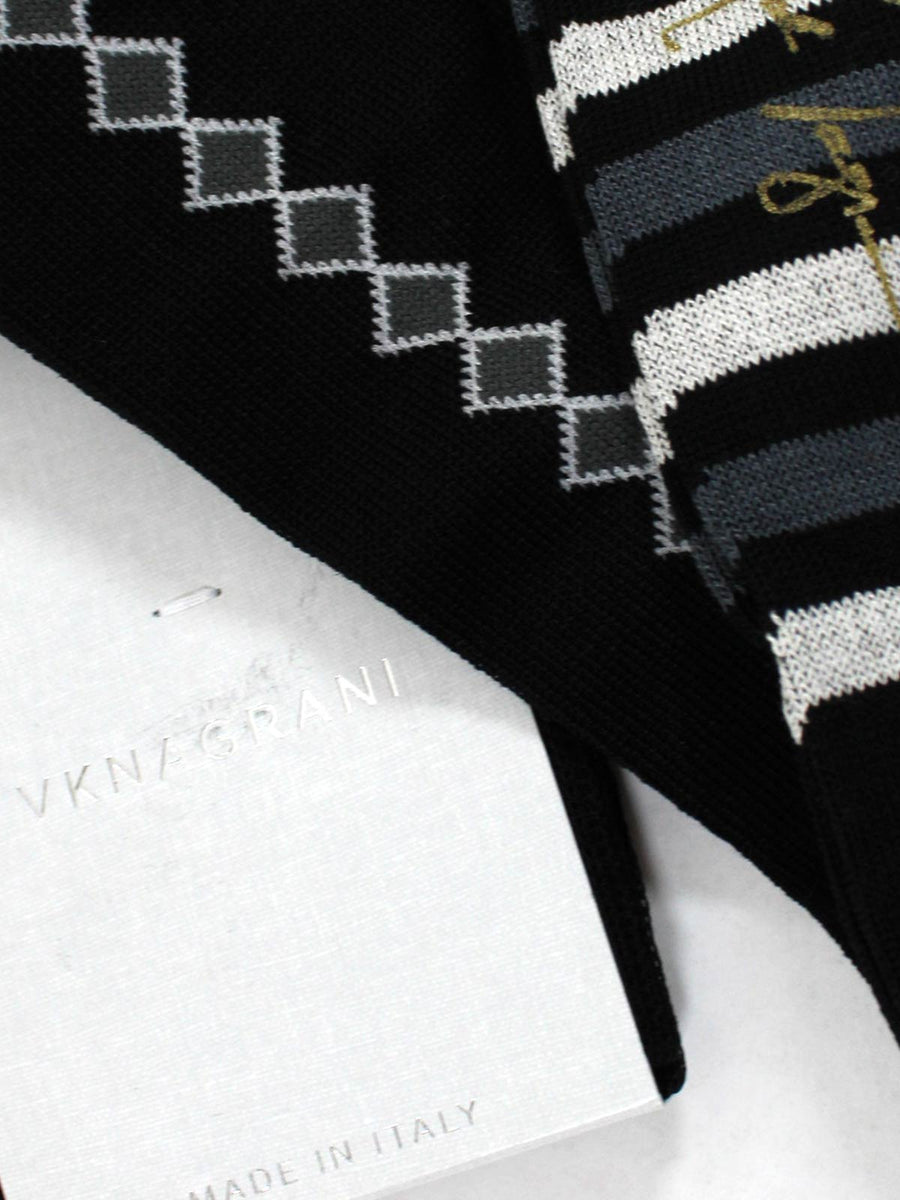 VK Nagrani Men Socks - Over The Calf Black Design