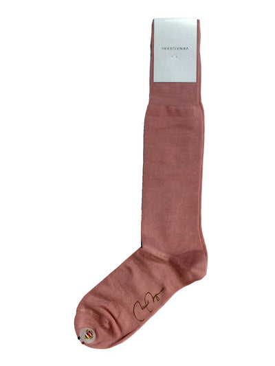 VK Nagrani Men Socks Pink Gray Dots Over The Calf