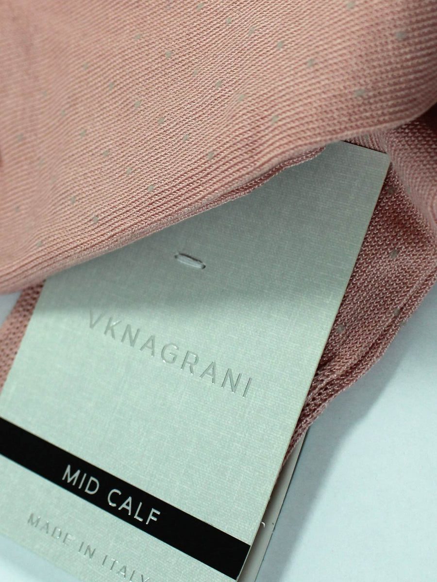 VK Nagrani Men Socks Pink Gray Dots