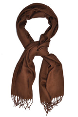 Pal Zileri Scarf Wool Silk Brown Shawl SALE