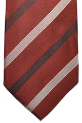 Pal Zileri Silk Tie Brown Stripes