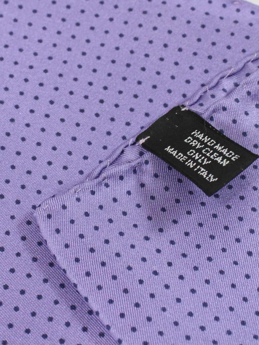 Vitaliano Pancaldi Pocket Square Lilac Micro Dots