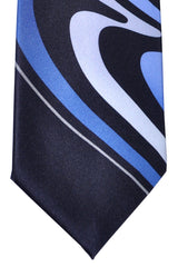 Vitaliano Tie Midnight Blue Swirl Vitaliano Pancaldi