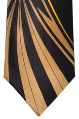 Vitaliano Tie Black Brown Gold Vitaliano Pancaldi