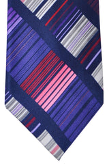 Vitaliano Pancaldi Tie Pink Purple Stripes Made in Italy