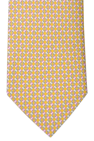 Salvatore Ferragamo Tie Vara Yellow Design