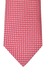 Salvatore Ferragamo Tie Oara Red Geometric - Spring / Summer 2016