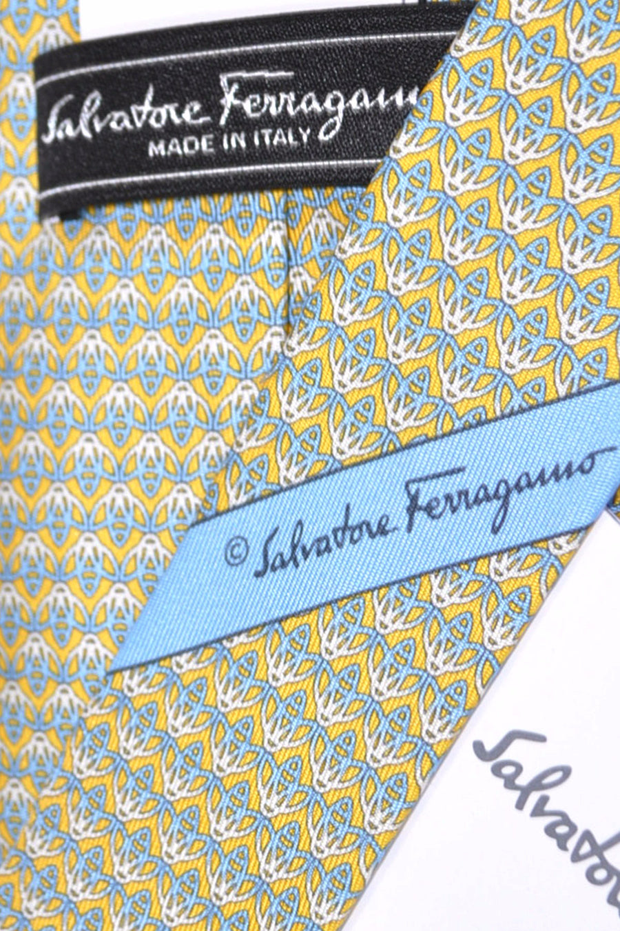 Salvatore Ferragamo Tie Yellow April - Spring / Summer 2016