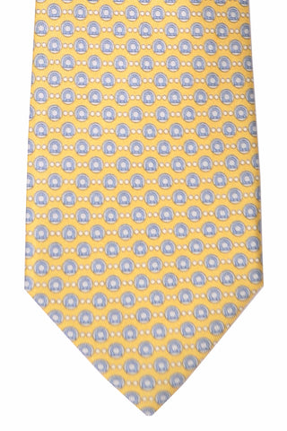 Salvatore Ferragamo Tie Yellow Gancini Bubble