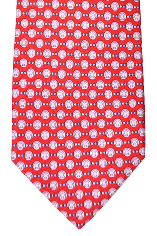 Salvatore Ferragamo Tie Red Logo - Summer 2016 SALE
