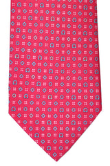 Salvatore Ferragamo Tie Strawberry Red Geometric