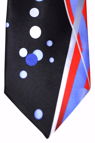 Vitaliano Pancaldi Tie Red Lilac Black Dots SALE