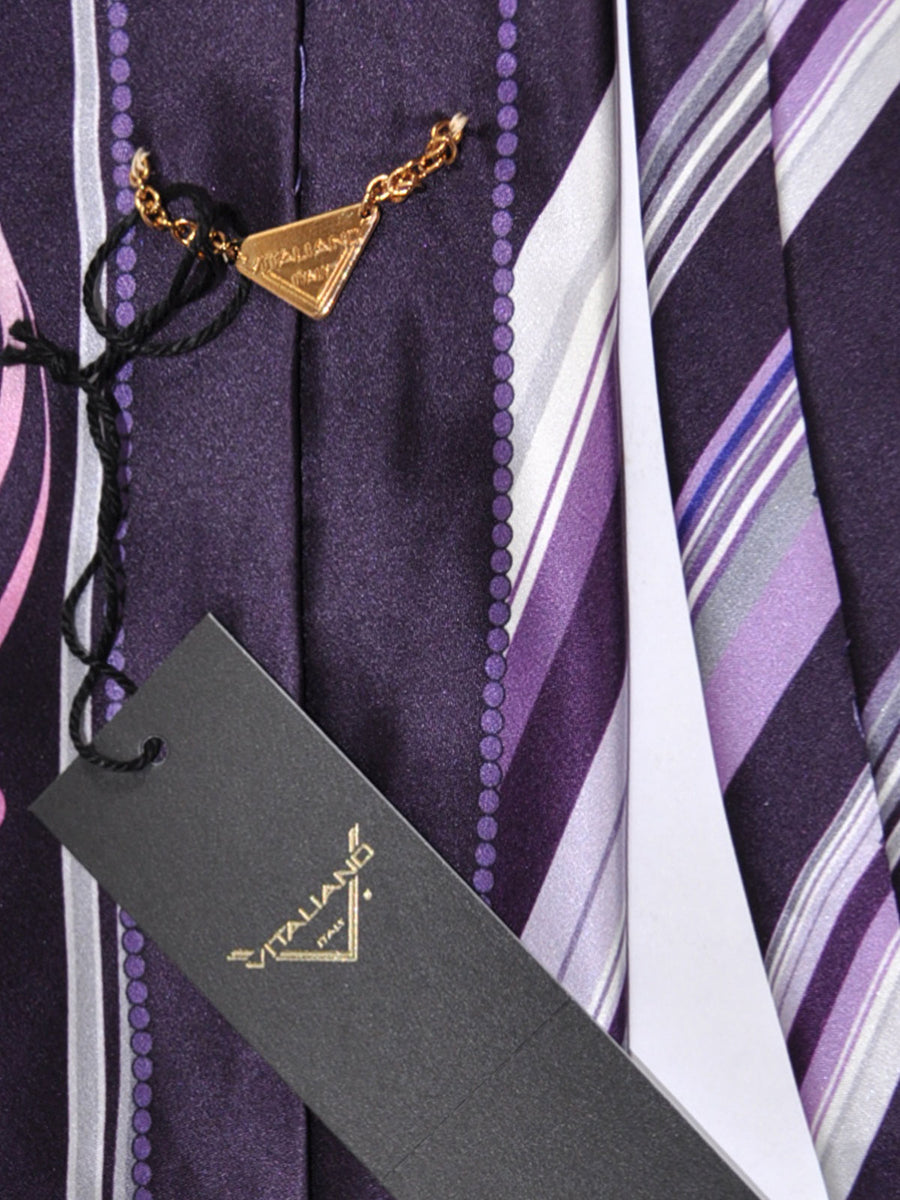 Vitaliano Pancaldi Tie Purple Pink Design