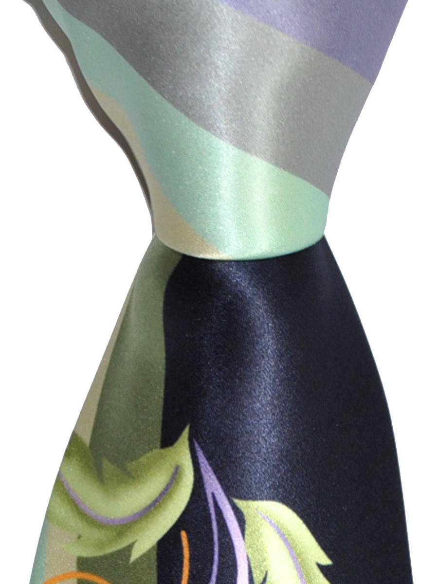 Vitaliano Pancaldi Tie Green Navy Design