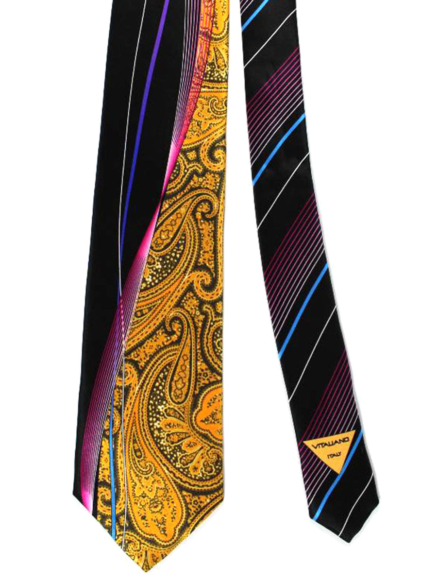 Vitaliano Pancaldi Tie Orange Gold Paisley