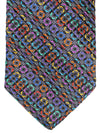 Vitaliano Pancaldi PLEATED SILK Tie Black Gray Geometric