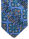 Vitaliano Pancaldi PLEATED SILK Tie Taupe Teal Ornamental