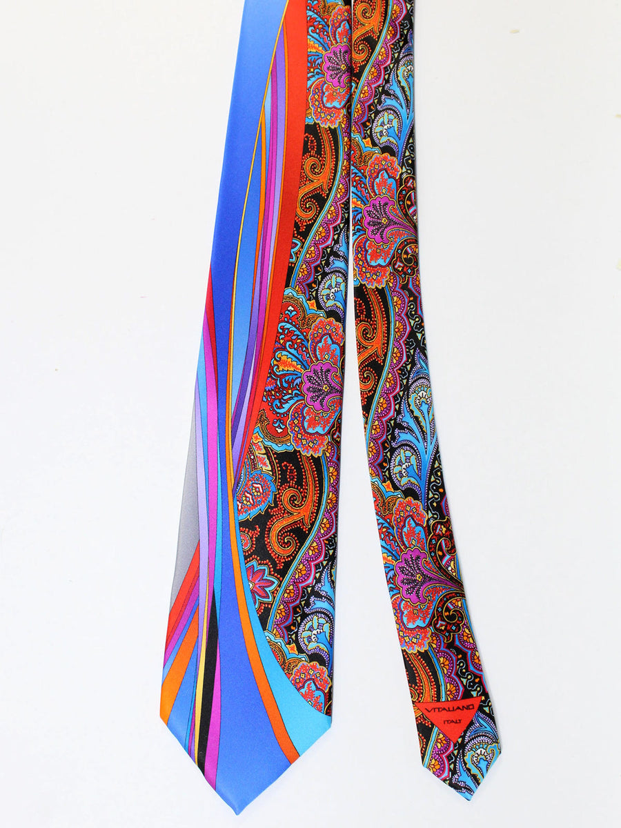 Vitaliano Pancaldi Tie Multicolored Ornamental Design