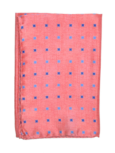 Vitaliano Pancaldi Pocket Square Pink Blue Mini Squares