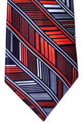 Vitaliano Tie Red Black Herringbone Vitaliano Pancaldi