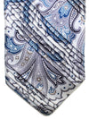 Vitaliano Pancaldi PLEATED SILK Tie Gray Paisley
