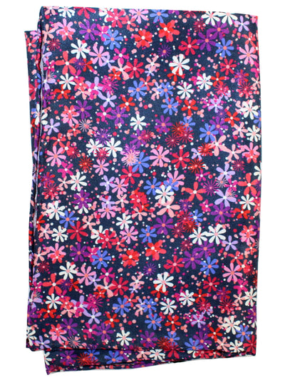 Vitaliano Pancaldi Pocket Square Navy Purple Pink Floral