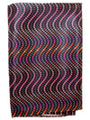 Vitaliano Pancaldi Pocket Square Black Multi Colored Geometric