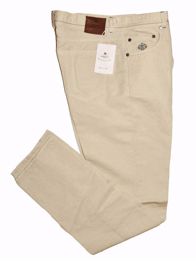 Luigi Borrelli Pants Cream 5 Pocket Slim Fit
