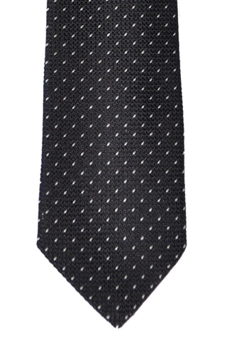 Paul Smith Skinny Tie Black Silver Micro Dots - FINAL SALE
