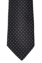 Paul Smith Skinny Tie Blue Black Silver Print