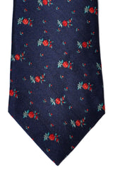 Paul Smith Tie Navy Floral Print SALE