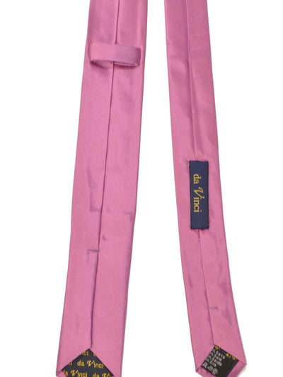 Da Vinci Silk Skinny Tie Solid Dust Pink - Hand Made in Italy FINAL SALE