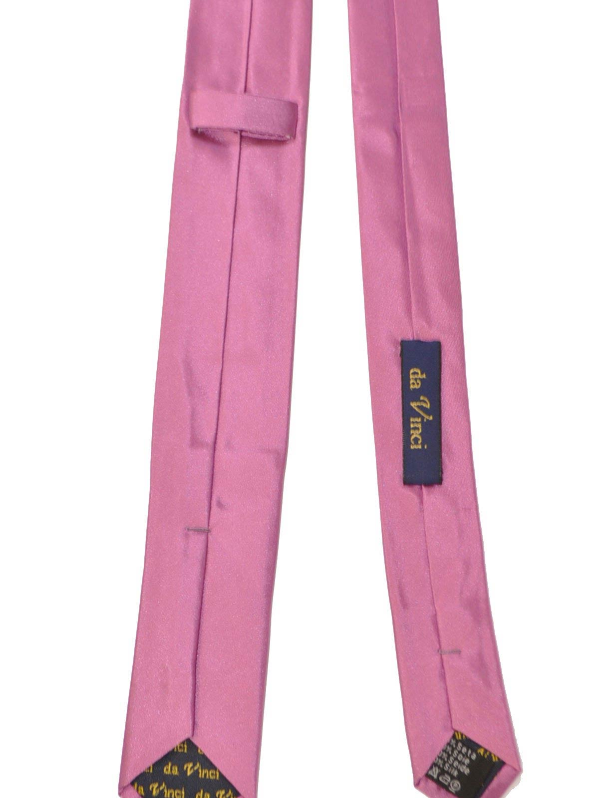 4b53a2b3beae Da Vinci Silk Skinny Tie Solid Dust Pink - Hand Made in Italy - FINAL SALE