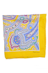 Ralph Lauren Pocket Square Yellow Paisley