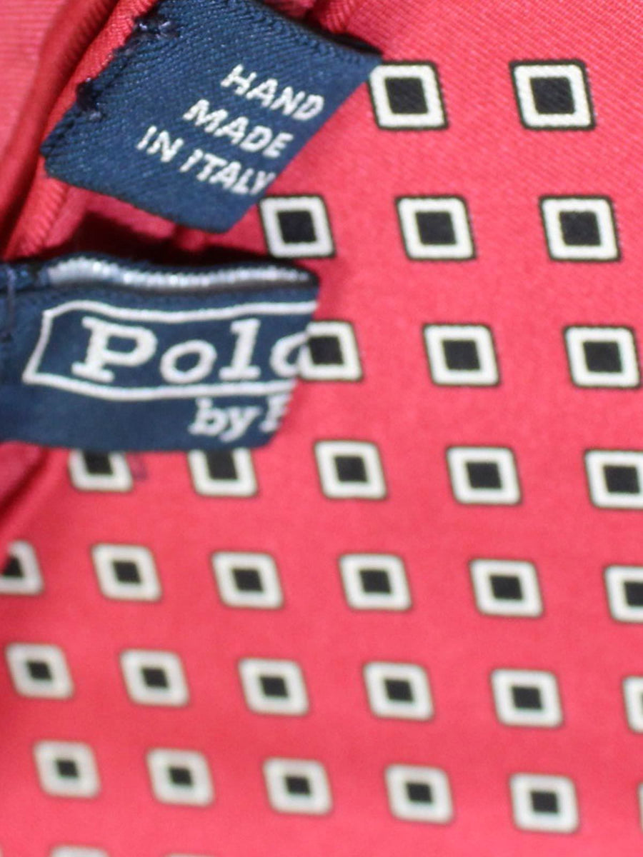 Polo Ralph Lauren Silk Pocket Square Red Squares