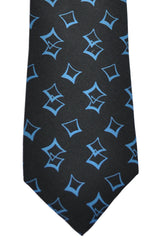 Polo Ralph Lauren Tie Black Blue Geometric