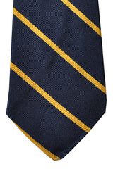 Polo Ralph Lauren Tie Navy Yellow Stripes