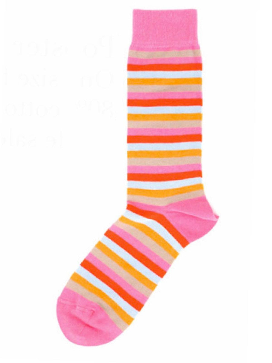 Gene Meyer Men Socks Popster Pink Stripes SALE