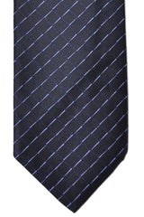 Prada Tie Navy Blue Stripes